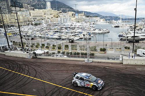 21.01.2016. Monte Carlo, Monaco. The Monte Carlo Rally 2016. The presentation of the cars and drivers in Monaco.  Sebastien Ogier (FRA) and Julien Ingrassia (FRA), Volkswagen Motorsport Polo R WRC