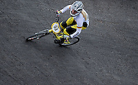 MEDELLIN- COLOMBIA -29-05-2016: Pries Nadja (GER) durante su participación en la categoría elite mujeres en el marco del Campeonato Mundial de BMX 2016 que se realiza entre el 25 y el 29 de mayo de 2016 en la ciudad de Medellín. / Pries Nadja (GER) during her performance in the women elite's categories as part of the 2016 BMX World Championships to be held between 25 and 29 May 2016 in the city of Medellin. Photo: VizzorImage / Cristian Alvarez / CONT