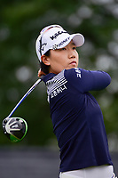 Jeong Eun Lee (KOR) watches her tee shot on 1 during Friday's second round of the 72nd U.S. Women's Open Championship, at Trump National Golf Club, Bedminster, New Jersey. 7/14/2017.<br /> Picture: Golffile | Ken Murray<br /> <br /> <br /> All photo usage must carry mandatory copyright credit (&copy; Golffile | Ken Murray)