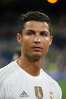 Real Madrid´s Cristiano Ronaldo during Santiago Bernabeu Trophy match at Santiago Bernabeu stadium in Madrid, Spain. August 18, 2015. (ALTERPHOTOS/Victor Blanco)