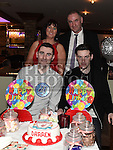 Darren Arnold celebrating his 21st birthday in Daly's of Donore with parents Fintan and Caroline and brother Oliver. Photo:Colin Bell/pressphotos.ie
