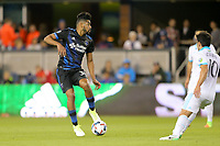 San Jose, CA - Saturday April 08, 2017: Anibal Godoy  during a Major League Soccer (MLS) match between the San Jose Earthquakes and the Seattle Sounders FC at Avaya Stadium.
