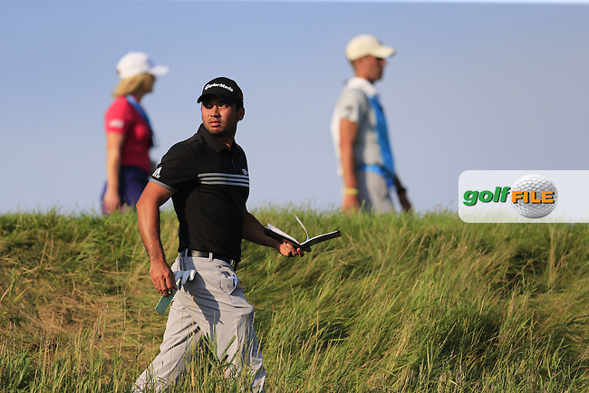 Jason DAY (AUS) walks to the 18th tee during Sunday's Final Round of the 97th US PGA Championship 2015 held at Whistling Straits, Mosel, Kohler, Wisconsin, United States of America. 16/08/2015.<br /> Picture Eoin Clarke, www.golffile.ie