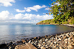 Honolua Bay on the North shore of West Maui is a popular snorkeling and surfing spot.  It is also a marine sancutary.