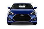 Car photography straight front view of a 2017 Hyundai Veloster Turbo-Manual 5 Door Hatchback Front View