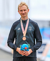 Hamish Bond takes bronze mens time trial, Cameron Meyer, Gold and Harry Tanfield silver. Commonwealth Games, Gold Coast, Australia. Tuesday 10 April, 2018. Copyright photo: John Cowpland / www.photosport.nz /SWpix.com /SWpix.com