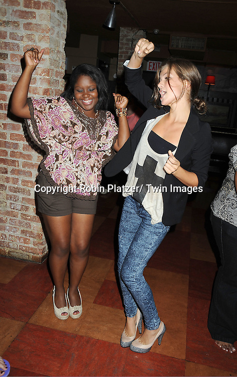 Shenell Edmonds and Kelley Missal attending the Shenell Edmonds Fan Club Dance Party on ..August 14, 2011 at HB Burger's Sunken Bar in New York City. Shenell plays Destiny Evans on One Life to Live.