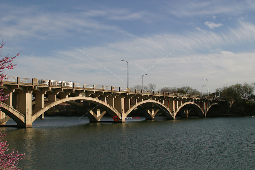 Unique cloud formations overlook the Lamar Street Bridge on Town Lake in Austin.
