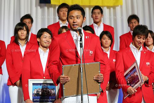 Kosuke Kitajima (JPN), .September 27, 2012 - Swimming : .Celebration party of London Olympic Japan National Team .in Tokyo, Japan. .(Photo by Daiju Kitamura/AFLO SPORT)
