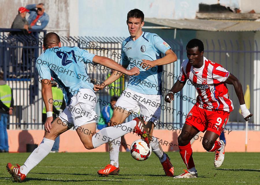Fudbal Super liga season 2013-2014<br /> Rad v Crvena Zvezda<br /> Abiola Dauda (R)<br /> Beograd, 10.11.2013.<br /> foto: Srdjan Stevanovic/Starsportphoto &copy;