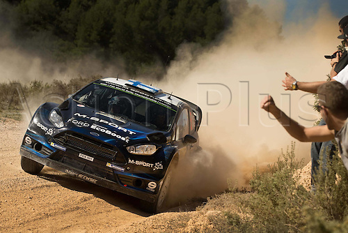 24.10.2014. Catalonia, Spain. WRC Rally of Spain. Mikko Hirvonen (FIN) and Jarmo Lehtinen (FIN)- Ford Fiesta WRC Motorsport