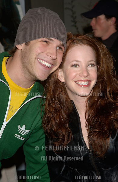 Actor BILLY AARON BROWN & actress AMY DAVIDSON at the world premiere, in Hollywood, of The Perfect Score..January 27, 2004