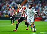 Real Madrid's spanish defender Daniel Carvajal during the Spanish league football match Real Madrid vs Athletic Club Bilbao at the Santiago Bernabeu stadium in Madrid on October 5, 2014. Daniel Calleja/Photocall3000