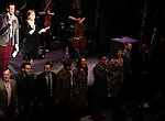 David Sisco (Founder/Creator) & Lorene Phillips (Contributing Editor) with composers performing in 'The Concert - A Celebration of Contemporary Musical Theatre' at The Second StageTheatre in New York City on 1/21/2013