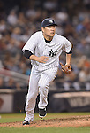 Masahiro Tanaka (Yankees),<br /> SEPTEMBER 8, 2015 - MLB :<br /> Pitcher Masahiro Tanaka of the New York Yankees covers first base in the sixth inning during the Major League Baseball game against the Baltimore Orioles at Yankee Stadium in the Bronx, New York, United States. (Photo by AFLO)