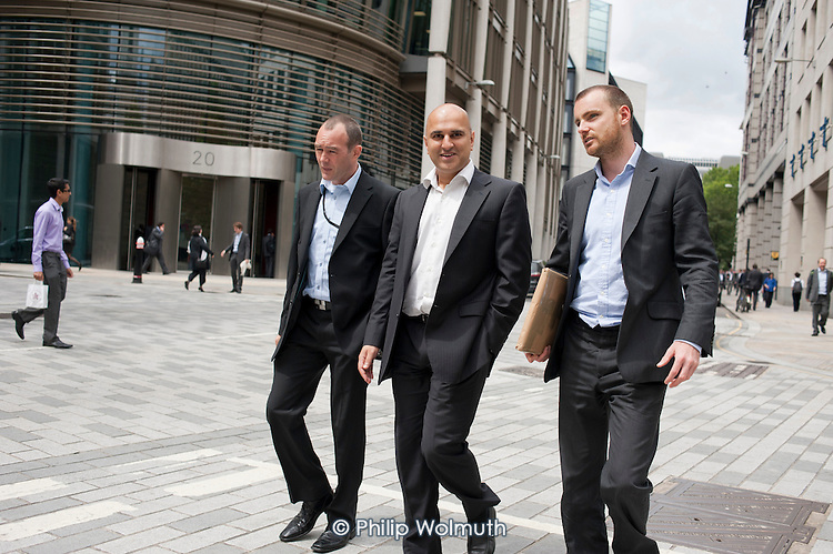 Finance workers, Gresham Street, City of London.
