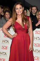 Jaqueline Jossa<br /> at the National TV Awards 2017 held at the O2 Arena, Greenwich, London.<br /> <br /> <br /> &copy;Ash Knotek  D3221  25/01/2017