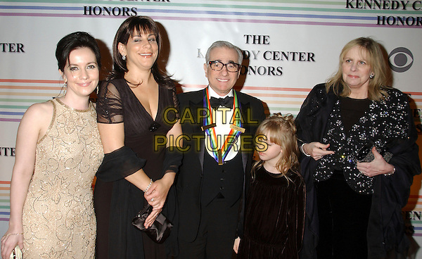 MARTIN SCORSESE & FAMILY.30th Kennedy Center Honors Recipients honored for lifetime achievement in the performing arts held at the Kennedy Center for the Performing Arts, Washington, D.C. .USA, 02 December 2007..half length.CAP/ADM/LF.©Laura Farr/AdMedia/Capital Pictures.