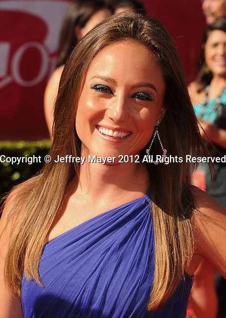 LOS ANGELES, CA - JULY 11: Lauren Mayhew arrives at the 2012 ESPY Awards at Nokia Theatre L.A. Live on July 11, 2012 in Los Angeles, California.