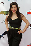 AMERICA FERRERA. Arrivals to the Los Angeles premiere of Dreamworks' How To Train Your Dragon at the Gibson Amphitheater. Universal City, CA, USA. March 21, 2010.