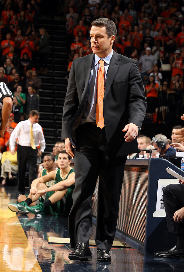 Nov. 12, 2010; Charlottesville, VA, USA; Virginia head coach Tony Bennett watches a play during the game against William & Mary at the John Paul Jones Arena. Virginia won 76-52.  Mandatory Credit: Andrew Shurtleff