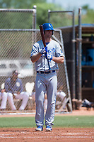 AZL Royals center fielder Bubba Starling (7) at bat during a rehab assignment in an Arizona League game against the AZL Padres 1 at Peoria Sports Complex on July 4, 2018 in Peoria, Arizona. The AZL Royals defeated the AZL Padres 1 5-4. (Zachary Lucy/Four Seam Images)