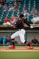 Birmingham Barons Luis Gonzalez (8) at bat during a Southern League game against the Chattanooga Lookouts on July 24, 2019 at Regions Field in Birmingham, Alabama.  Chattanooga defeated Birmingham 9-1.  (Mike Janes/Four Seam Images)