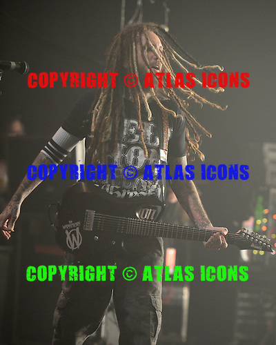 MIAMI BEACH FL - OCTOBER 16: Brian Head Welch of Korn performs at The Fillmore on October 16, 2015 in Miami Beach, Florida. Credit Larry Marano © 2015