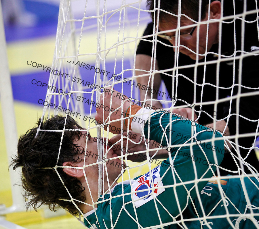 Niklas Landin Jacobsen during men`s EHF EURO 2012 handball championship final game between Serbia and Denmark in Belgrade, Serbia, Sunday, January 29, 2011.  (photo: Pedja Milosavljevic / thepedja@gmail.com / +381641260959)