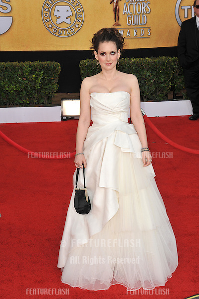 Winona Ryder at the 17th Annual Screen Actors Guild Awards at the Shrine Auditorium..January 30, 2011  Los Angeles, CA.Picture: Paul Smith / Featureflash