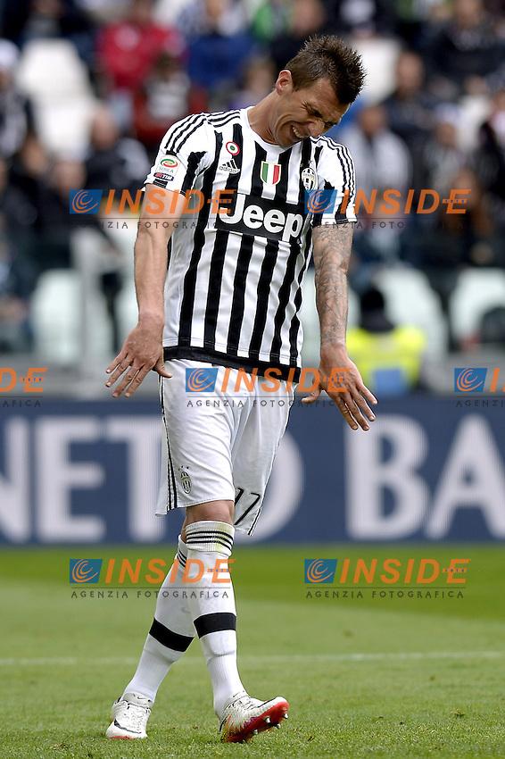 Delusione Mario Mandzukic Juventus, dejection,<br /> Torino 01-05-2016, Juventus Stadium, Football Calcio 2015/2016 Serie A, Juventus - Carpi, Foto Filippo Alfero/Insidefoto