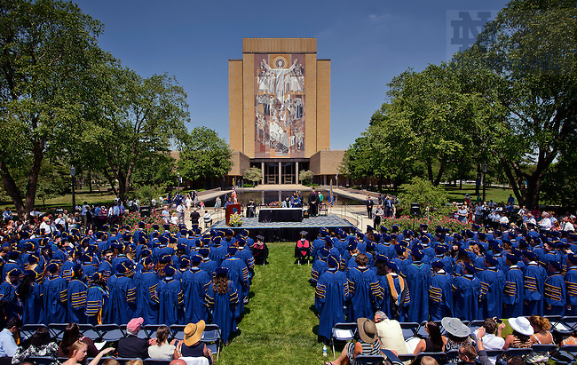 law school diploma ceremony jpg university of notre dame   19 2012 the law school diploma ceremony at the hesburgh library reflecting pool