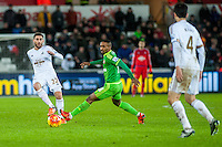 Jermain Defoe of Sunderland  in action during the Barclays Premier League match between Swansea City and Sunderland played at the Liberty Stadium, Swansea  on  January the 13th 2016
