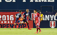 Frisco, TX. - September 13, 2016: The New England Revolution take a 1-0 lead over FC Dallas with Juan Agudelo contributing a goal  in the 2016 U.S. Open Cup Final at Toyota Stadium.