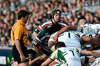 Thomas Waldrom of Leicester Tigers looks on during the LV= Cup Final match between Leicester Tigers and Northampton Saints at Sixways Stadium, Worcester on Sunday 18 March 2012 (Photo by Rob Munro, Fotosports International)