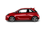 Car driver side profile view of a 2017 Opel Adam S 3 Door Hatchback