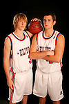 Kyle Singler (33) and Kevin Love (42) on August 31, 2006 in New York, New York.  Singler currently attends South Medford High School and will attend Duke in the fall of 2007 while Love who currently attends Lake Oswego High School will play for UCLA in the fall of 2007.  The players were in town for the Elite 24 Hoops Classic, which brought together the top 24 high school basketball players in the country regardless of class or sneaker affiliation.