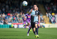 Michael Harriman of Wycombe Wanderers chases down the ball during the Sky Bet League 2 match between Wycombe Wanderers and Plymouth Argyle at Adams Park, High Wycombe, England on 12 September 2015. Photo by Andy Rowland.