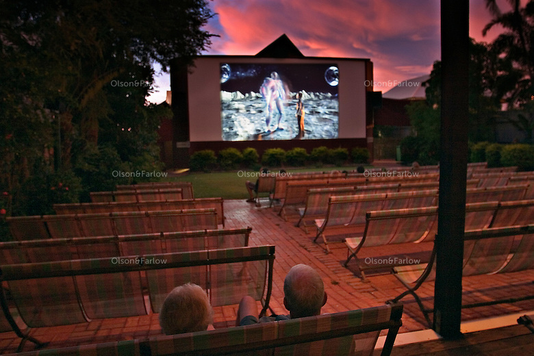 No crowds tonight at the Sun Pictures which was built half indoors and half outdoors to accommodate the wet and the dry seasons.  It is the oldest operating outdoor picture garden in the world.  It showed silent films from 1916 until 1933 and then talkies from 33' on.