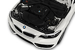 Car stock 2018 BMW 2 Series Sport 2 Door Convertible engine high angle detail view