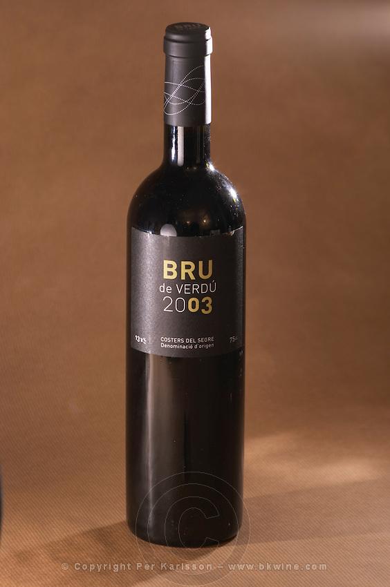 A bottle of Bru de Verdu 2003 from Costers del Segre, Catalonia, Spain
