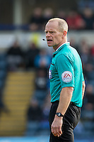 Referee Andy Woolmer during the Sky Bet League 2 match between Wycombe Wanderers and Stevenage at Adams Park, High Wycombe, England on 12 March 2016. Photo by Andy Rowland/PRiME Media Images.