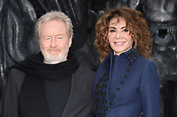Ridley Scott &amp; Giannina Facio at the world premiere for &quot;Alien: Covenant&quot; at the Odeon Leicester Square, London, UK. <br /> 04 May  2017<br /> Picture: Steve Vas/Featureflash/SilverHub 0208 004 5359 sales@silverhubmedia.com