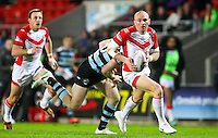 Picture by Alex Whitehead/SWpix.com - 01/05/2014 - Rugby League - First Utility Super League - St Helens v London Broncos - Langtree Park, St Helens, England - St Helens' Luke Walsh makes a break.
