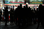 Fans queue for snacks at a fast food wagon outside the ground before the Coppa Italia match at Giuseppe Meazza, Milan. Picture date: 13th February 2020. Picture credit should read: Jonathan Moscrop/Sportimage