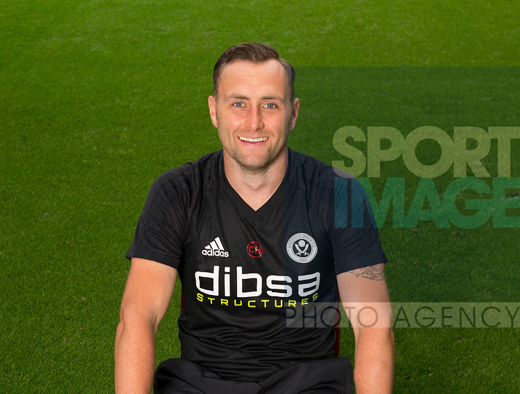 Carl Hopwood of Sheffield Utd during the 2017/18 Photocall at Bramall Lane Stadium, Sheffield. Picture date 7th September 2017. Picture credit should read: Sportimage
