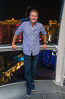 "LAS VEGAS, NV - AUGUST 3:   ***HOUSE COVERAGE*** Chris Harrison, host of popular American romance/reality series ""The Bachelor,"" ""The Bachelorette"",  ""Bachelor in Paradise"" and ""Who Wants To Be A Millionaire,"" pictured 550 feet above Las Vegas on the High Roller observation wheel at The LINQ Promenade in Las Vegas, Nevada on August 3, 2016. Credit: Erik Kabik Photography/ MediaPunch"