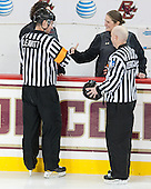 Chris Leavitt, Katie Crowley (BC - Head Coach), Tim Kerrigan - The Boston College Eagles defeated the visiting UConn Huskies 4-0 on Friday, October 30, 2015, at Kelley Rink in Conte Forum in Chestnut Hill, Massachusetts.