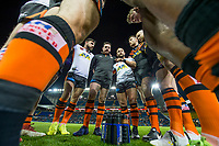 Picture by Allan McKenzie/SWpix.com - 23/03/2018 - Rugby League - Betfred Super League - Leeds Rhinos v Castleford Tigers - Elland Road, Leeds, England - Castleford's Paul McShane has the players in a huddle prior to kick off.