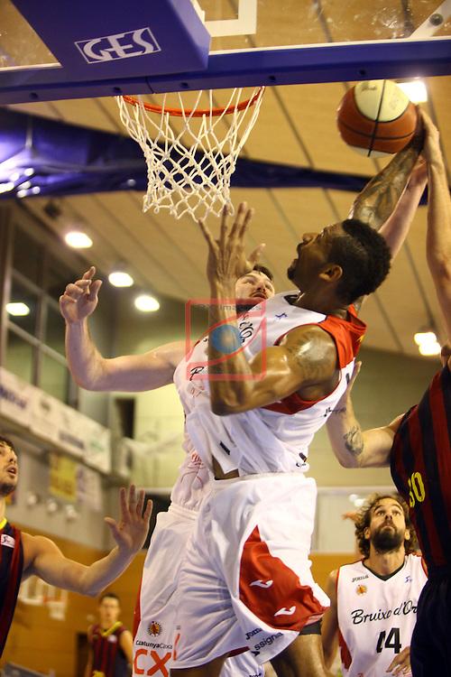 Regal XXXV Llia Nacional Catalana ACB 2014-Semifinals.<br /> FC Barcelona vs La Bruixa d'Or Manresa: 82-66.<br /> Mike Hall.